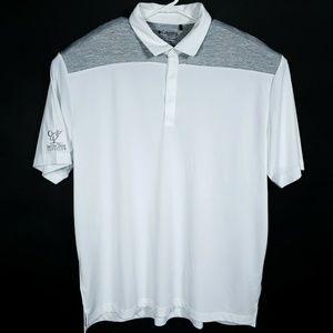 Columbia Golf Mens 2XL White Gray Golf Polo Shirt